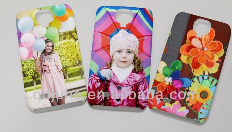 DIY blank sublimation 3D phone cover for Samsung GALAXY S4