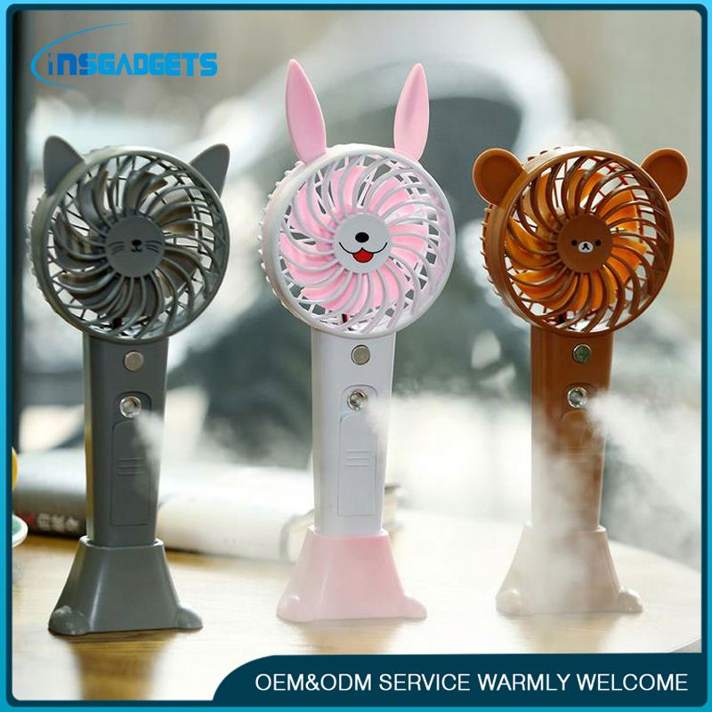 Cool mist humidifier fan ,h0tXRQ rechargeable water mist beauty fan for sale