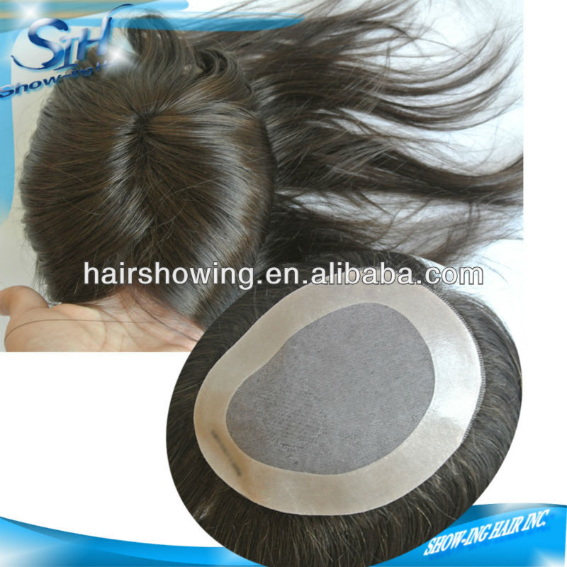 Best quality human hair toupee for women