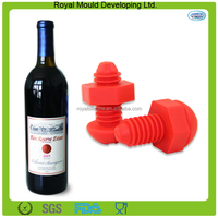 2016 Promotional gift screw shape silicone rubber wine bottle stopper