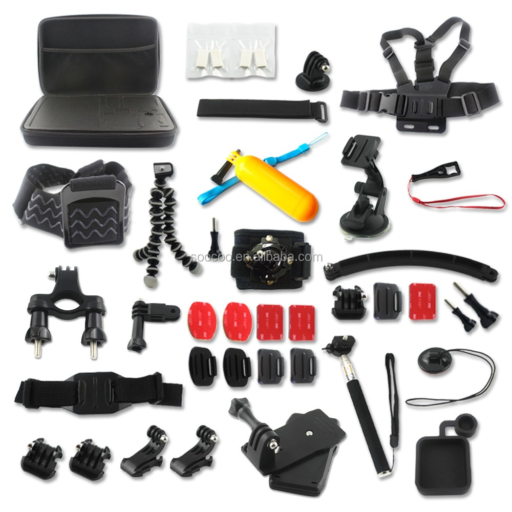 Cheap Video Camera Accessories Kit for SOOCOO S70/60B/60/C10 SJCAM SJ4000 SJ5000 Go pro He ro 4 xiaomi yi
