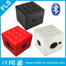 New Fashional Home Furniture Bluetooth Speaker with PU Furniture Chiar Footstool