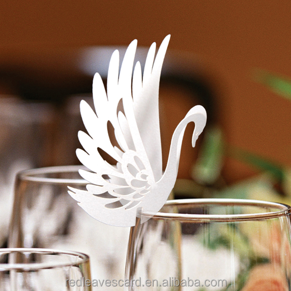 High quality laser cut wedding bird shaped paper name place card