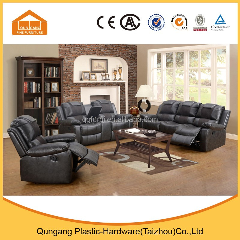 Recliner motion sofa 3 seater leather living room furniture