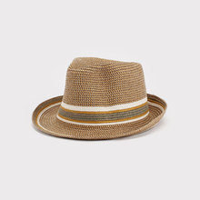 OEM PP Paper Straw Braids Sewing Straw Hat Men's Fedora Hat In Fedora Hats MLE16-495