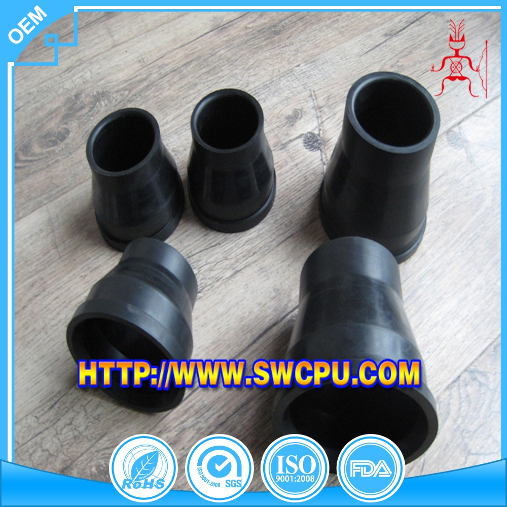 Molded silicone bushing rubber component