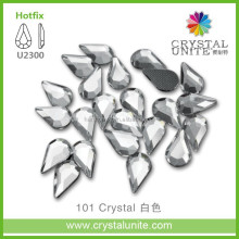 U2300 Water drop Crystal Clear Hotfix Stone Beads