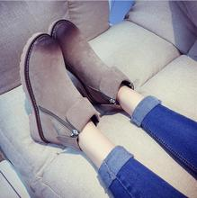 sh10204a Ladies flat heel leather snow boot cheap winter boots for women