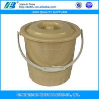 square food grade clear plastic pail with lids plastic bucket