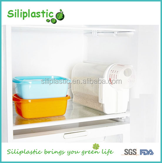 Wholesale plastic coffee bean soy bean rice storagte cotainer bin