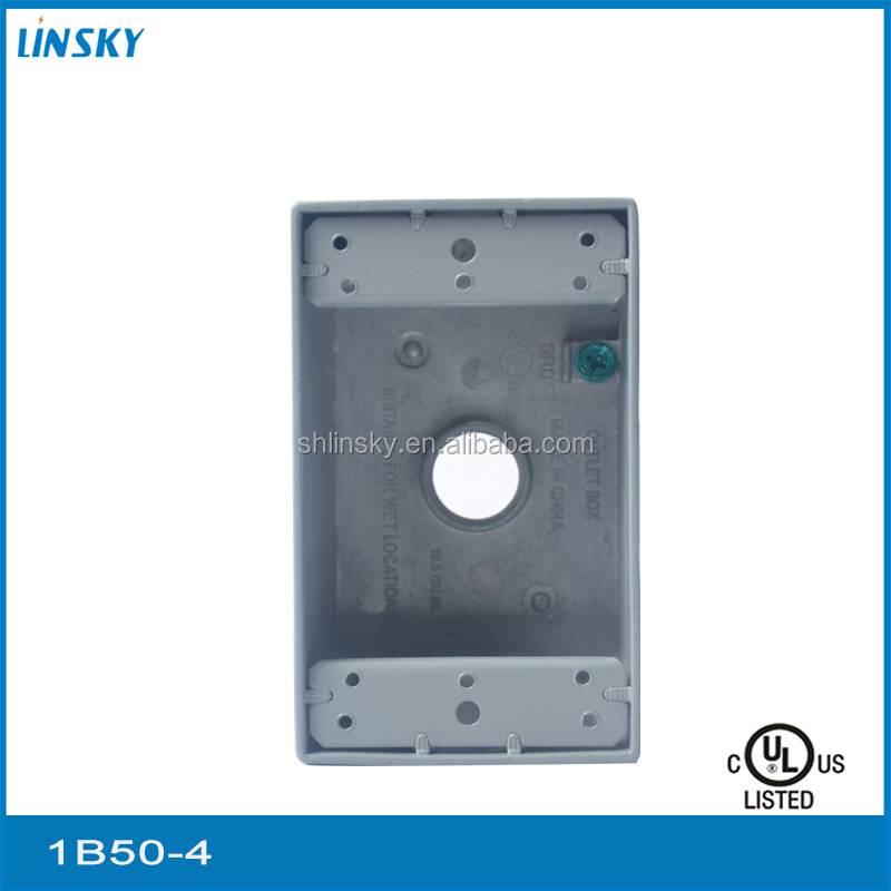 "ul listed electrical junction box metal 4 outlet hole 1""hole 18.3 cubic inch waterproof junction box connector junction box"
