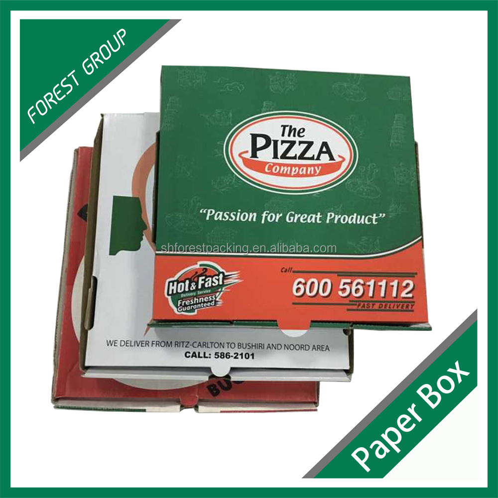 3 layer perforated carton pizza box