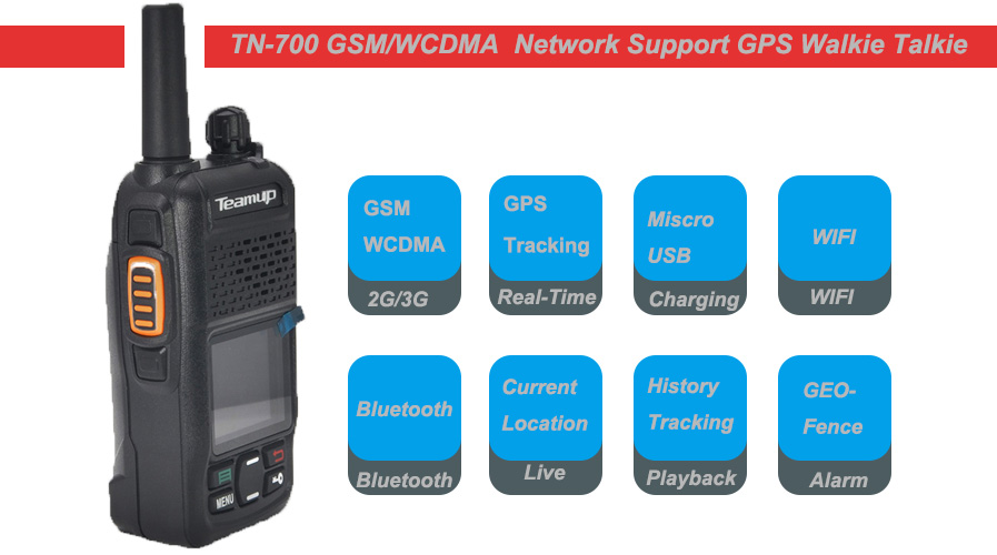 SIM card GSM WCDMA two-way radio walkie talkie Teamup TN-700 PTT Network Radio