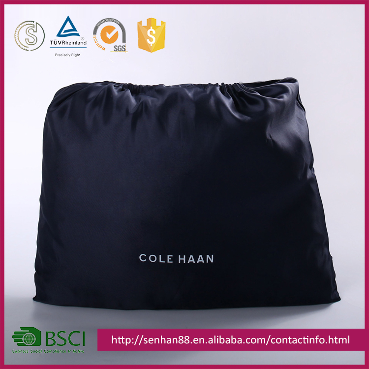 High Level Waterproof Nylon Black Cloth Drawstring Bags