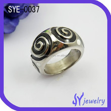 Hot wholesale fashion men stainless steel ring silver