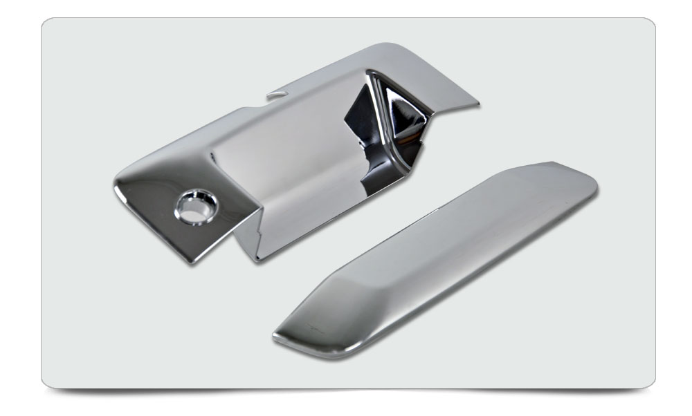 Tailgate Handle Cover for Silverado/ Sierra 2014-2015 2pcs ABS Chrome W/ Keyhole, W/ Camera Cutout