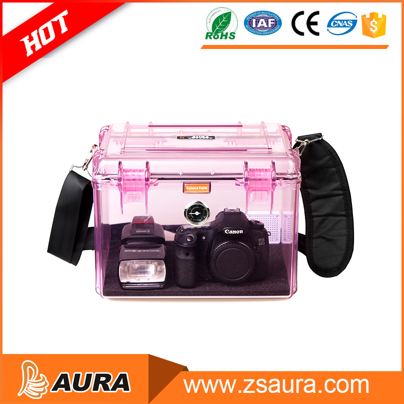AURA AI-2.8-2218B Professional Transparent Plastic Camera Case Waterproof Protective Case