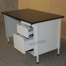 Office Furniture Sri Lanka Wood Metal Mixed Computer Table With Drawer