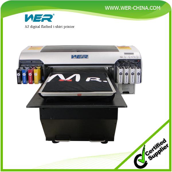 Top selling wer d4880t digital t shirt flatbed printer t for T shirt digital printer