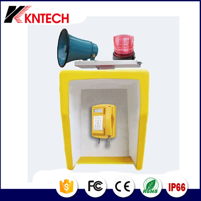 Anti-strike and noise-cancellation Kiosk phone booth hood RF-16 public telephone booth noise reduction
