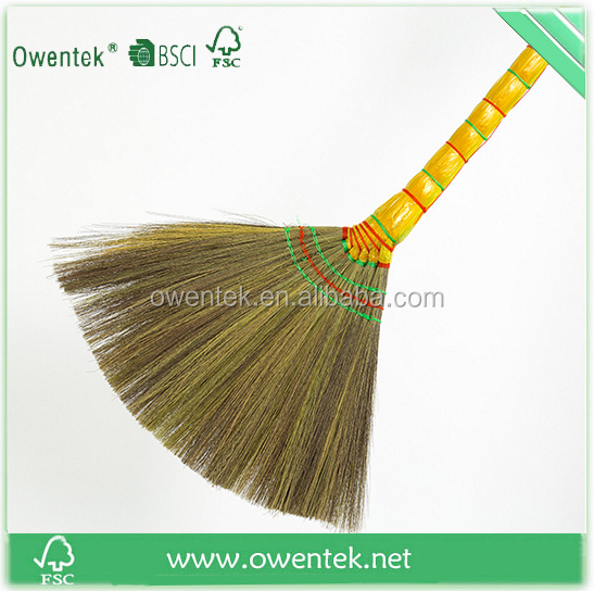 Indonesian soft broom broom corn for sale with natural straw broom factory in china