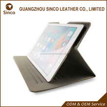 Fashionable mesh design pu leather sticky tablet case for ipad 10 inch