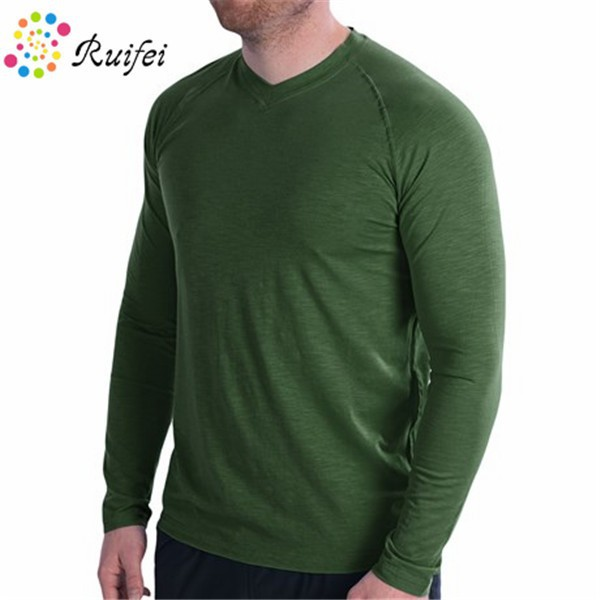Fitness Cheap T Shirts Dry Fit Mens Long Sleeve Thermal