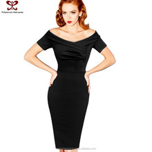 2016 Europe America New Style Off Shoulder Short Sleeve Women Fashion Gaon Dress Sexy Party Gamber Sex Dress