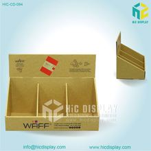 Paper counter top brochure holder Book countertop display with header Counter top brochure holder for advertising
