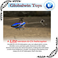 FLYBARLESS FUN ! wl toys v933 2.4G Flybarless 3D 6CH Rc Helicopter With Gyro rc helicopter long fly time