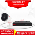 Weisky 2017 Hd Ir Bullet Camera 1080p 4 Channel Ahd Dvr Kit 8ch Standalone Dvr System Wifi Cctv Camera System