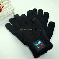 winter knitted warmer hats and bluetooth gloves with high quality