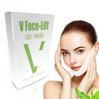 Hot Sale ISO 22716 GMPC Fabric V Line Shape Lifting Slim Face Mask For Reducing Double Chin