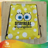 Made in China Cheap Price 210D Nylon Kid Drawstring Backpack Bag