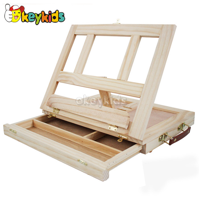 2016 wholesale baby wooden table easel, new fashion kids wooden table easel, popular children wooden table easel W12B063