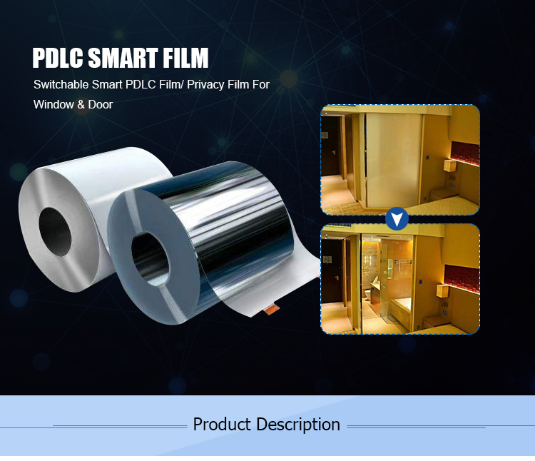 pdlc self adhesive smart glass film