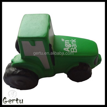 stress reliever tractor ,tractor foam toy