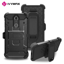 IVYMAX New products 2017 innovative product leather cover metal bumper shockproof case for ZTE Grand X4