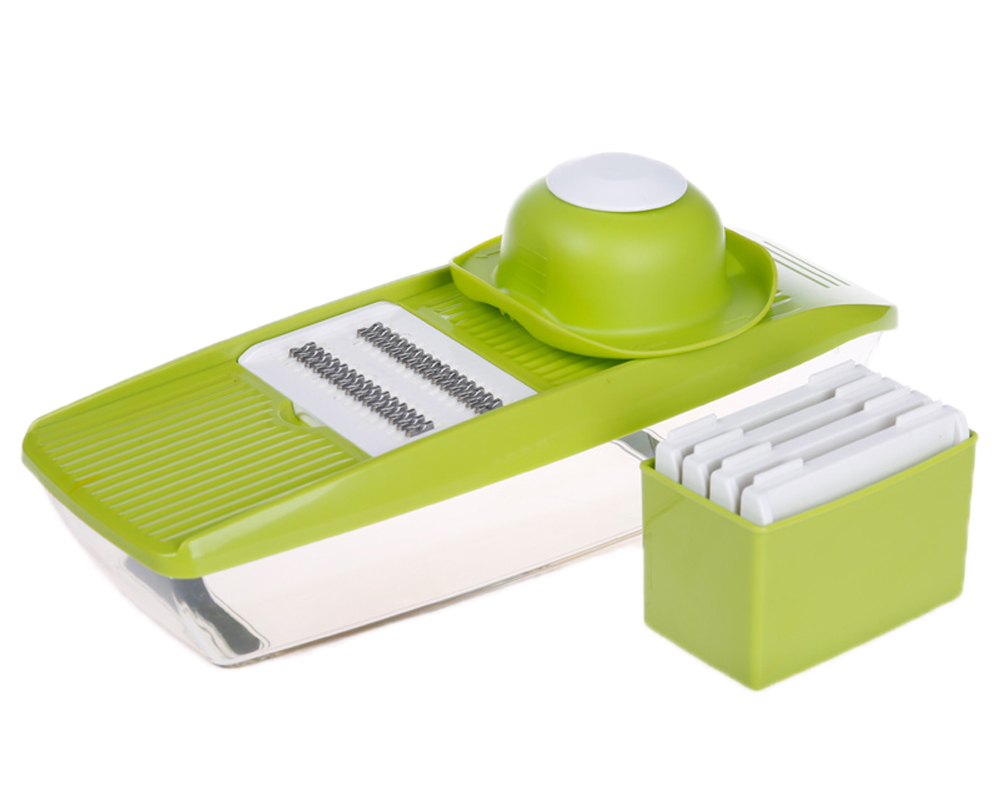 5 In 1 Multifunctional Grater Container kitchen slicer,Stainless Steel Blade Mandoline Slicer,manual vegetable slicer