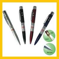 2015 High Quality 3 in 1 LED Flashlight With Red Beam Laser Pointer Pen