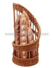 Certificated Supplier Offered Colored Spiral Shaped Rattan Bread Basket