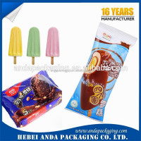 printed ice cream packaging material / Plastic ice cream bar packaging bag wrapping film roll