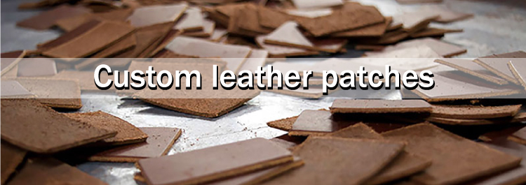 New design coffee leather patches label for jeans
