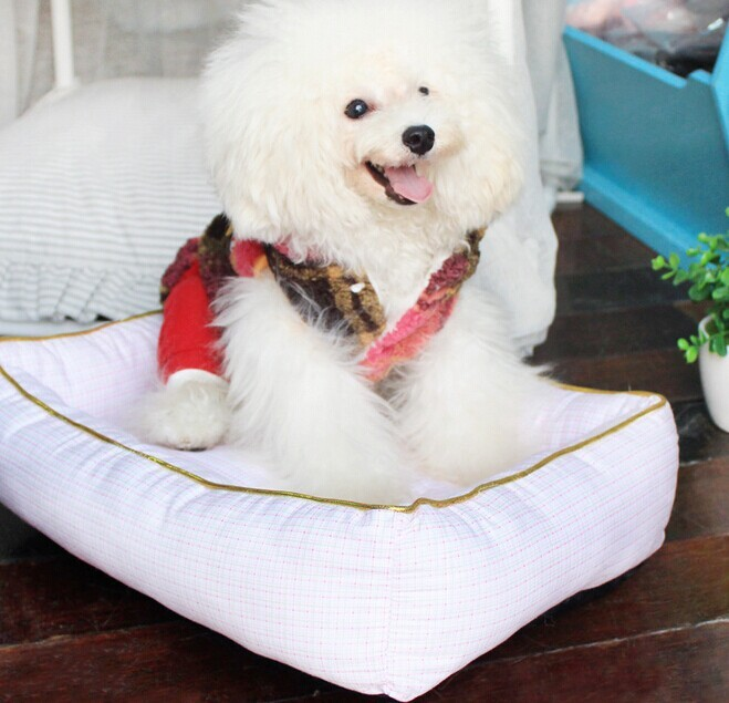 Fashion Plaid Pet Bed Dog Bed China Wholesale Dogs Furniture Pet Products