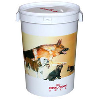 Two carry handles design 15kg dog food storage container