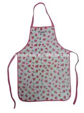 cheap wholesale cute promotional pink children painting aprons