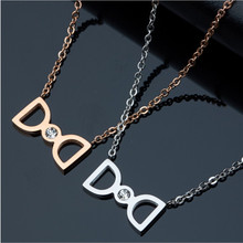 Yiwu Aceon Stainless Steel Single stone best gift for her double <strong>D</strong> pendant