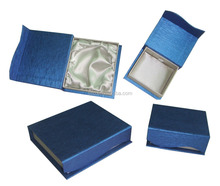 Hot sales new design luxury book shaped jewelry packaging gift boxes with blue special paper