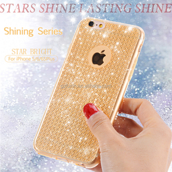 Ultra-thin for iphone 5/6/6s shining star mobile back case 4.7inch gel translucent TPU cell phone case /bulk cheap mobile case