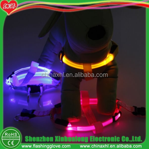 Sales promotion pet proudcts LED flashing dog harness